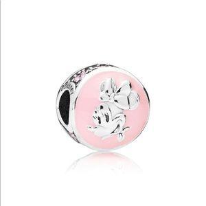 Disney, Vintage Minnie Charm, Bubblegum Pink Ename